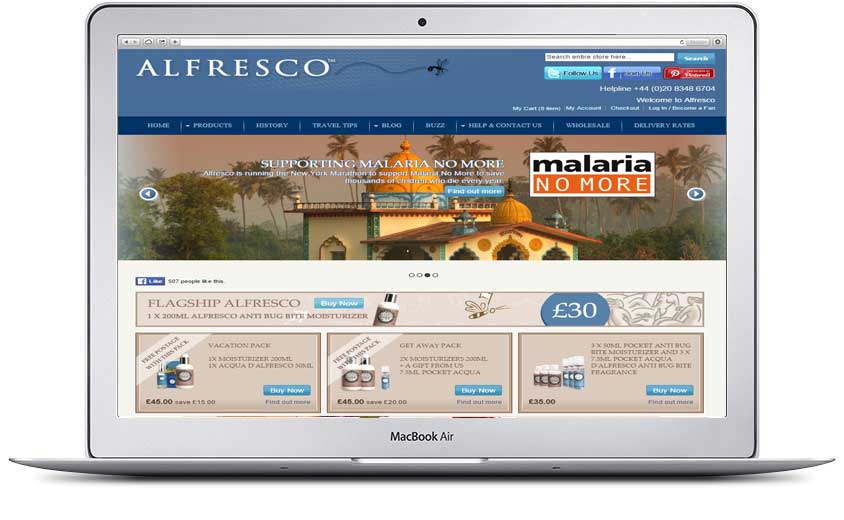Alfrescoshop.com website by Magentity